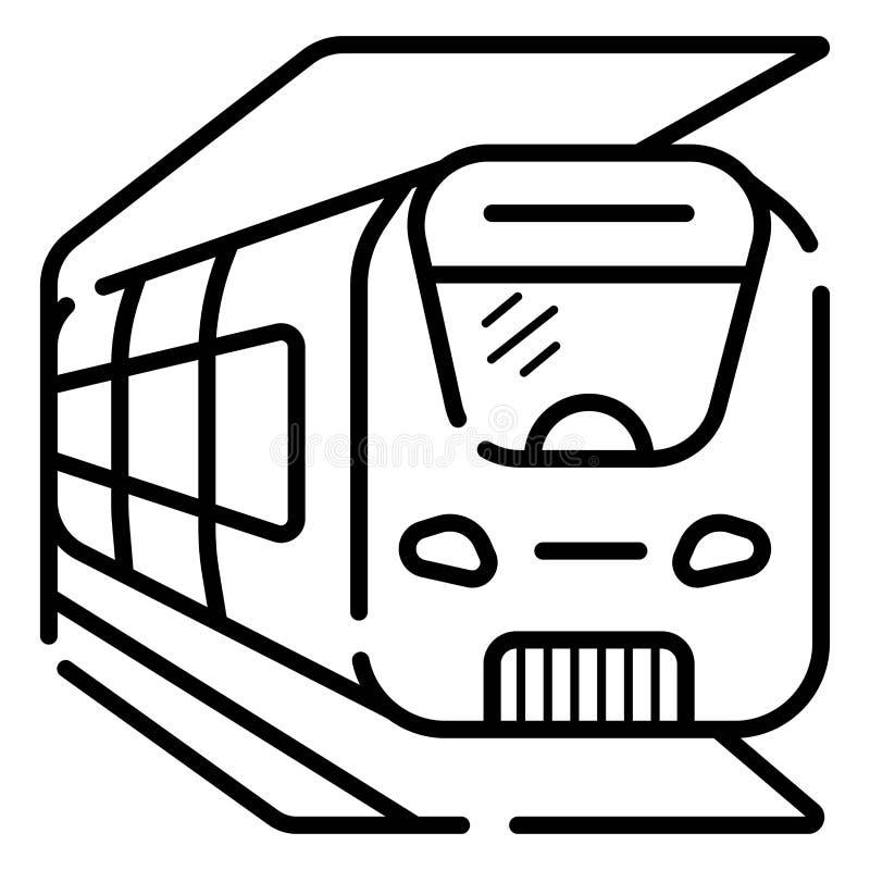 Zug-Ikonen-Vektor lizenzfreie abbildung