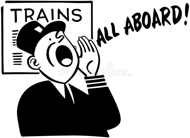 Zug-Leiter lizenzfreie abbildung