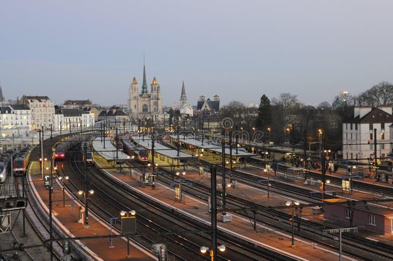 Zug-Station, Dijon lizenzfreie stockfotos