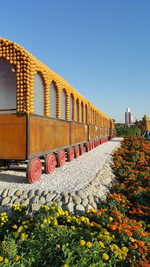 Zug verziert mit Früchten lizenzfreie stockbilder
