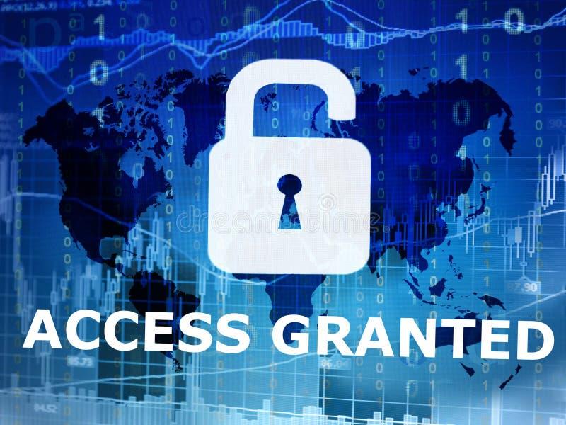 Zugang bewilligt lizenzfreies stockbild