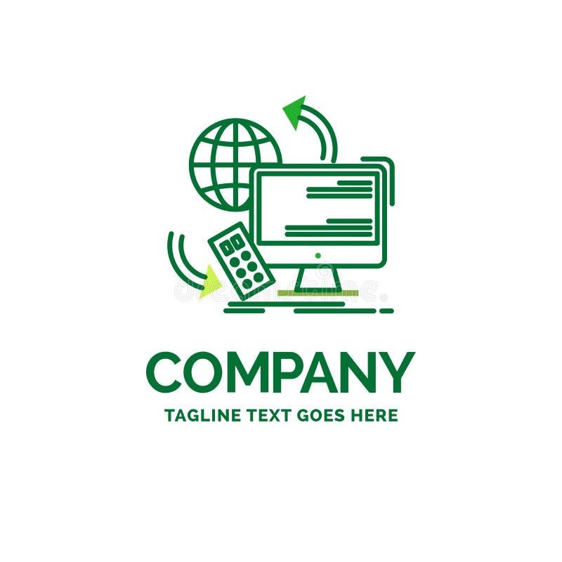 Zugang, Steuerung, Überwachung, Direktübertragung, Sicherheit flaches Geschäfts-Logo vektor abbildung