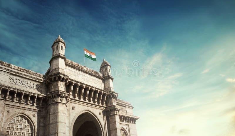 Zugang von Indien Mumbai stockfotografie
