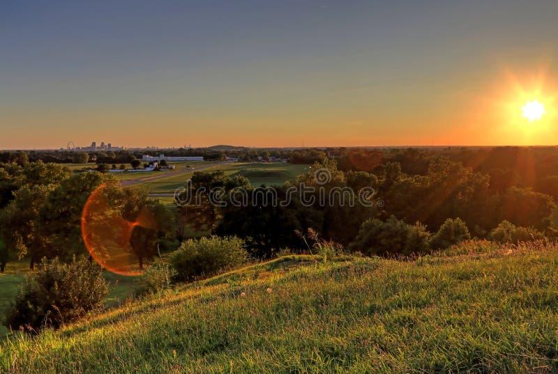 Zugangs-Bogen und Skyline St. Louis, Missouri stockfoto
