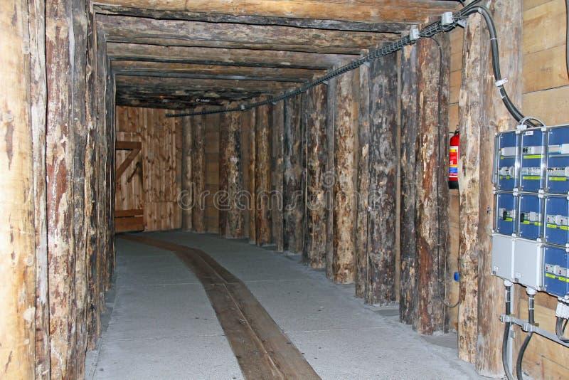 Zugangskammer des Salzc$bergwerk-museums Wieliczka, Polen lizenzfreie stockfotos