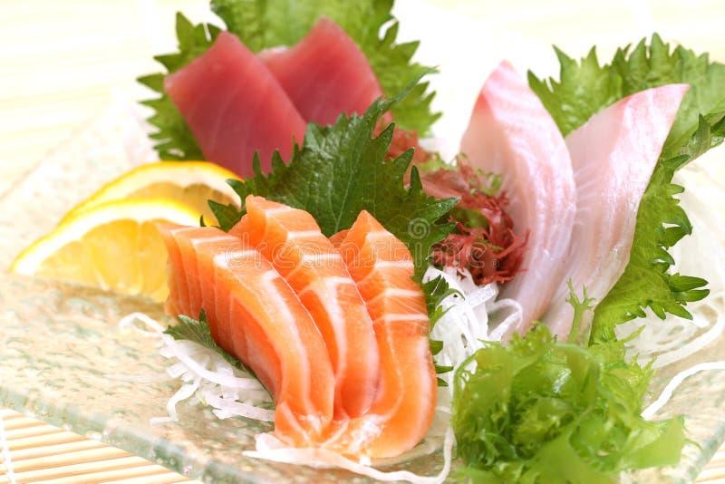 Zugebereitete und köstliche Sushi stockbild