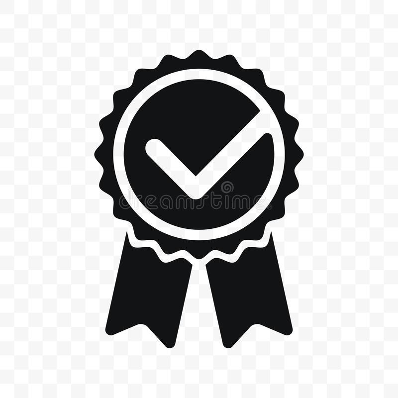 Zugelassene oder beste Wahl des Qualitätskontrollbandikonen-Vektorproduktes empfahl anerkanntes Zertifikatkennzeichen des Preises vektor abbildung