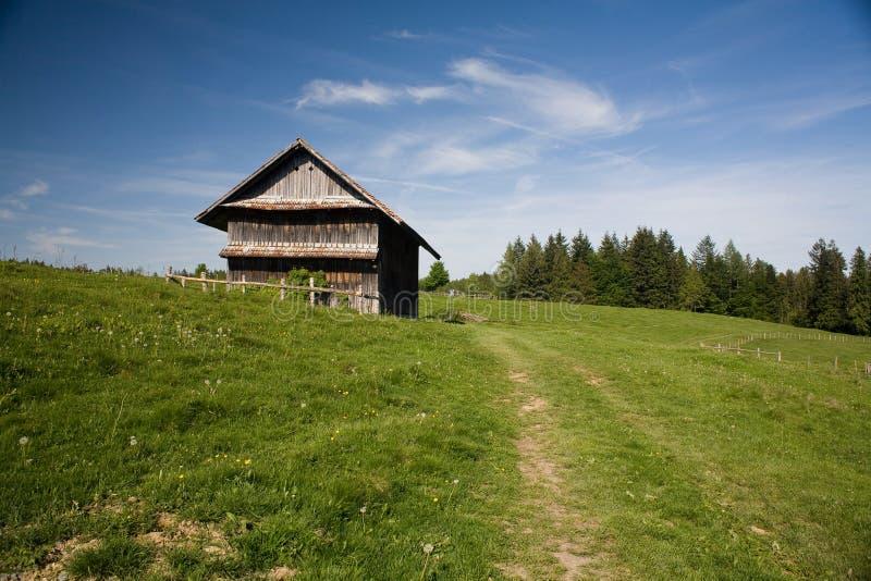 Zugerberg house. Beautiful little house on top of Zugerberg hill above Zug. Swizerland stock photos
