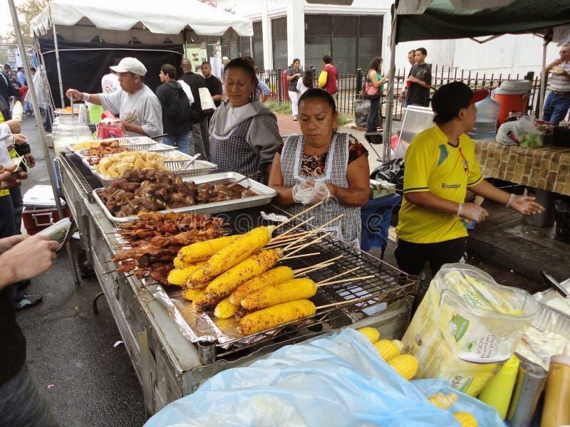 Zugeständnis-Standplatz-Nahrungsmittelvielzahl stockfotos