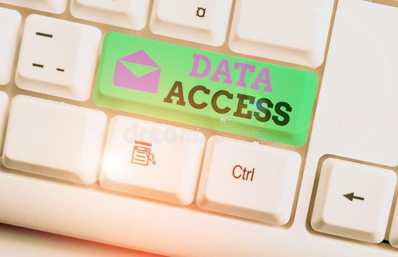 Zugriff auf Textdatenzugriff Konzept bedeutet, dass Benutzer auf Daten zugreifen können, die in einer Datenbank gespeichert sind  lizenzfreie stockfotos