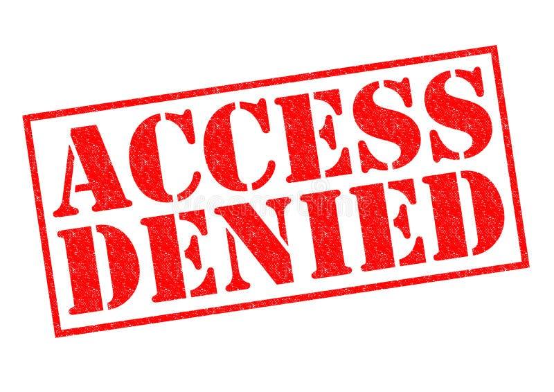 Zugriff verweigert lizenzfreie abbildung