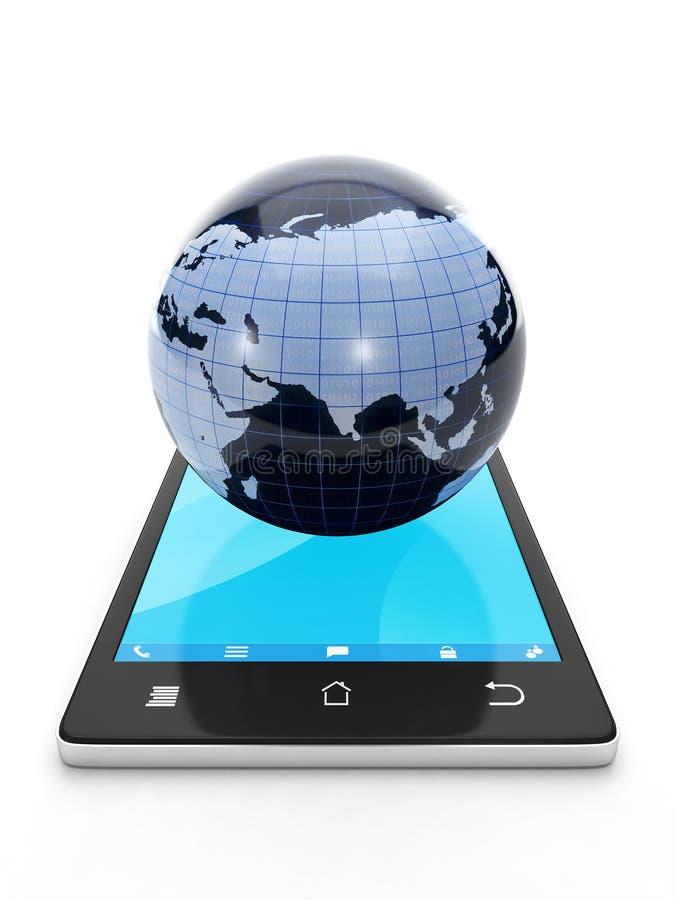 Download Zugriff Zum Internet Von Einem Mobile Stock Abbildung - Illustration von intelligent, platz: 27733958