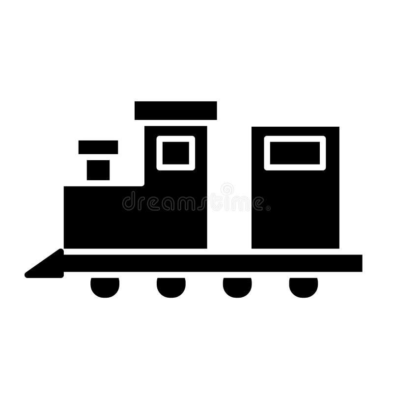 Zugspielzeug-Körperikone Sich fortbewegende Vektorillustration lokalisiert auf Weiß Spielzeug Glyph-Artdesign, bestimmt für Netz  vektor abbildung