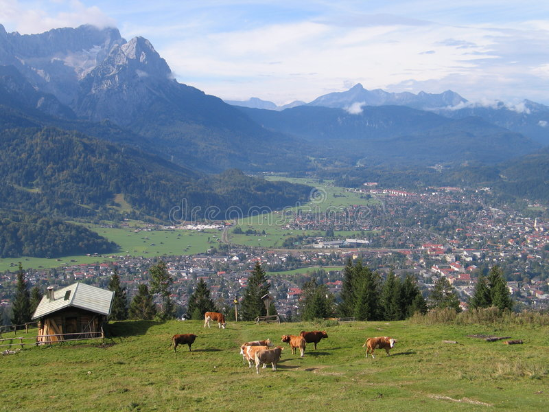 Download Zugspitz-view stock image. Image of bavarian, beautyful - 1713997