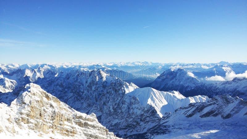 Zugspitze - la cima della Germania fotografia stock libera da diritti