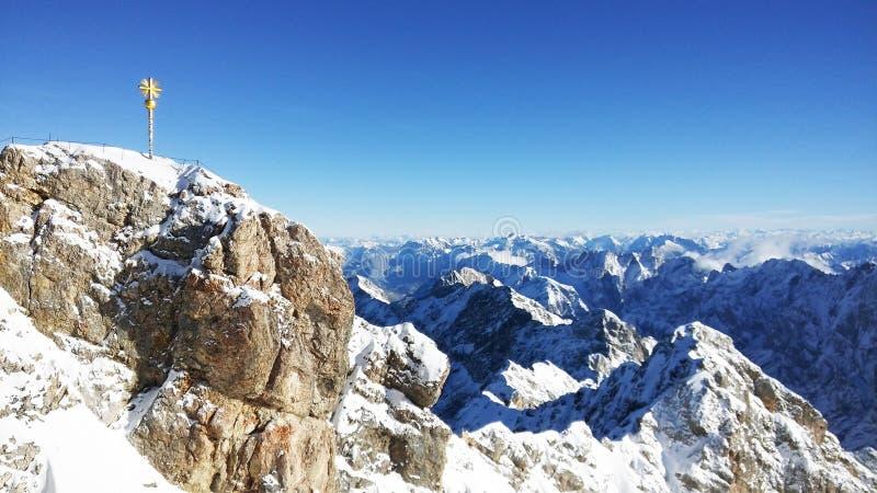 Zugspitze - wierzchołek Niemcy zdjęcie royalty free