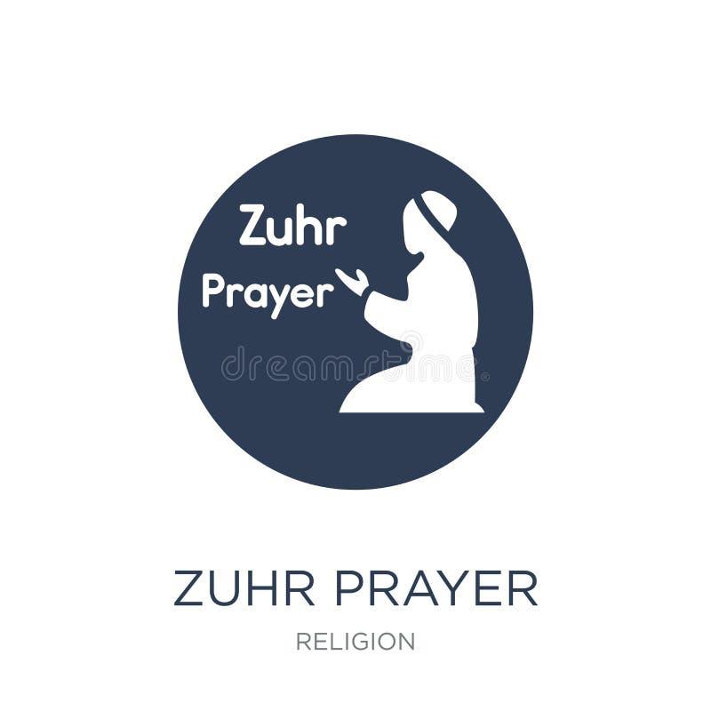 Zuhr bönsymbol Moderiktig plan symbol för vektorZuhr bön på vitt b stock illustrationer