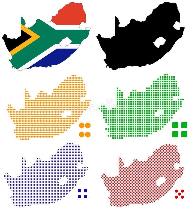 Zuid-Afrika royalty-vrije illustratie