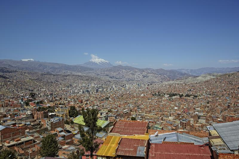 Zuid-Amerika, Bolivië, La Paz, cityscape royalty-vrije stock afbeeldingen