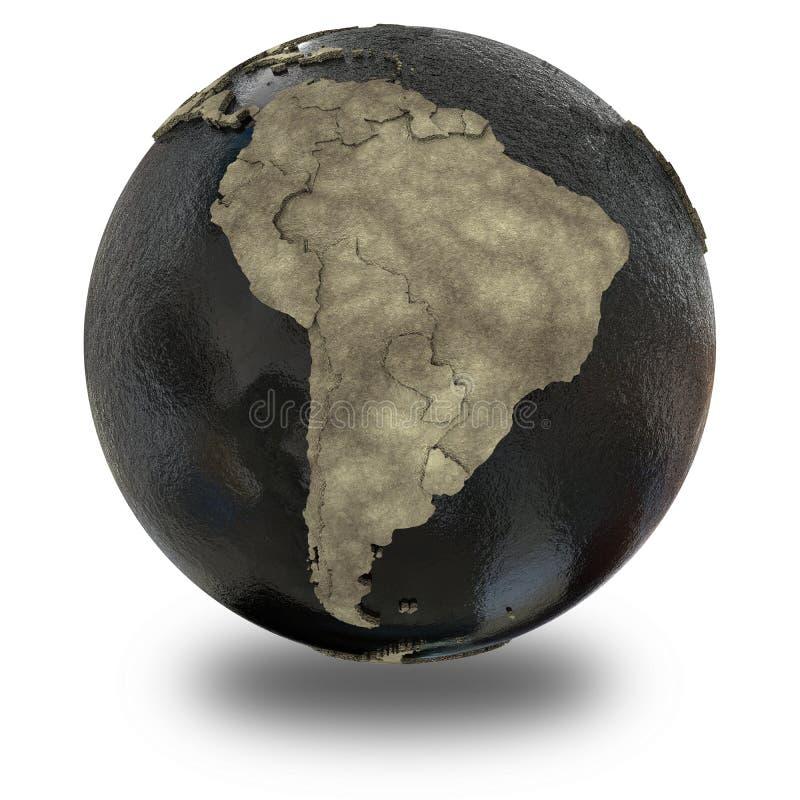 Zuid-Amerika ter wereld van olie vector illustratie