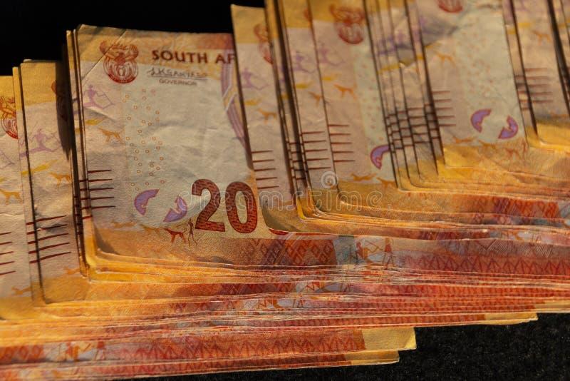 Zuidafrikaans geld stock afbeelding