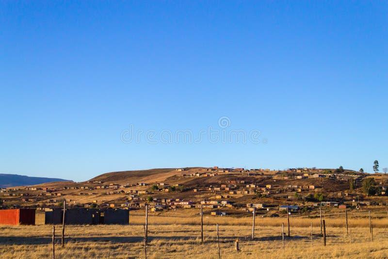 Zuidafrikaanse sloppenwijk royalty-vrije stock foto's