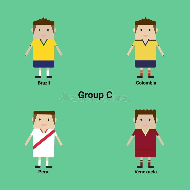 Zuidamerikaans Kampioenschap Groep C - Brazilië, Colombia, Peru, V royalty-vrije stock fotografie
