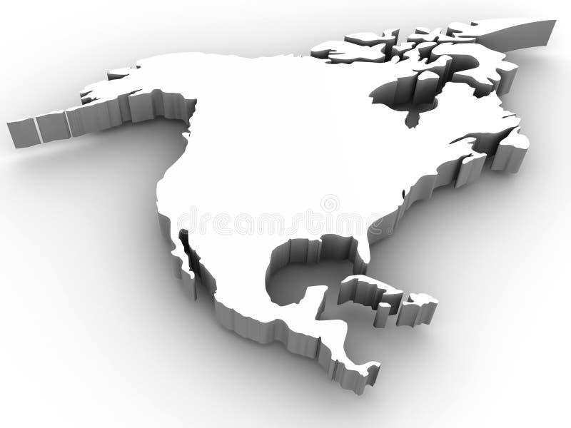 Zuidelijk Amerika royalty-vrije illustratie