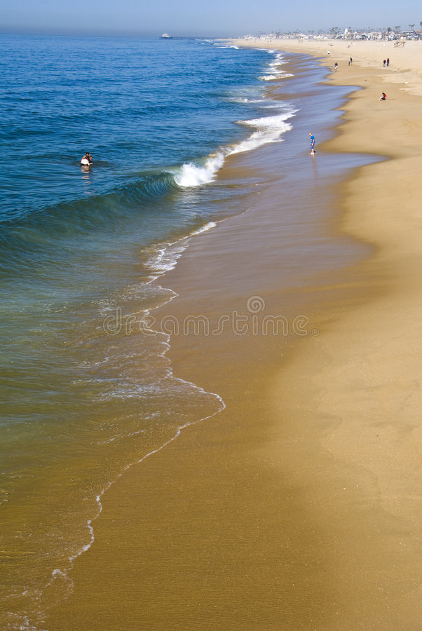 Zuidelijk Californisch strand, New Port Beach stock fotografie