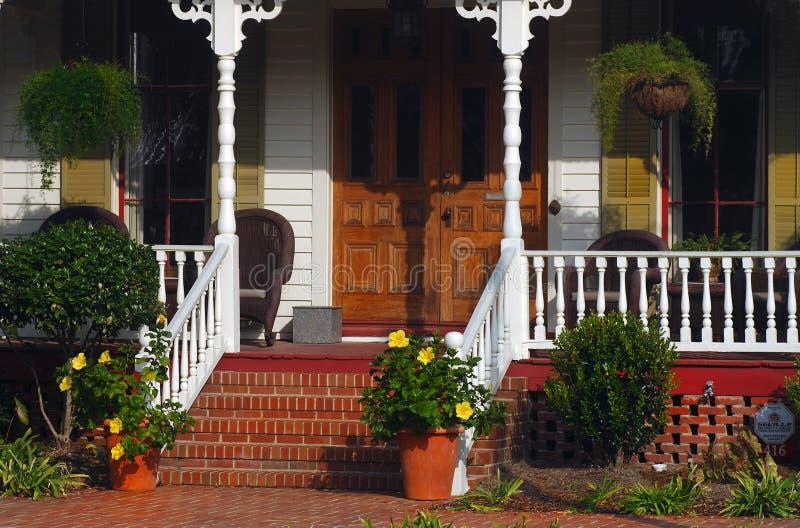 Zuidelijke portiek stock afbeeldingen