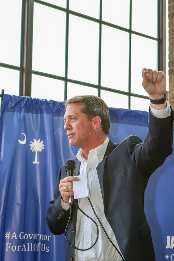 Zuiden Carolina Democratic Gubernatorial Candidate James Smith stock foto's