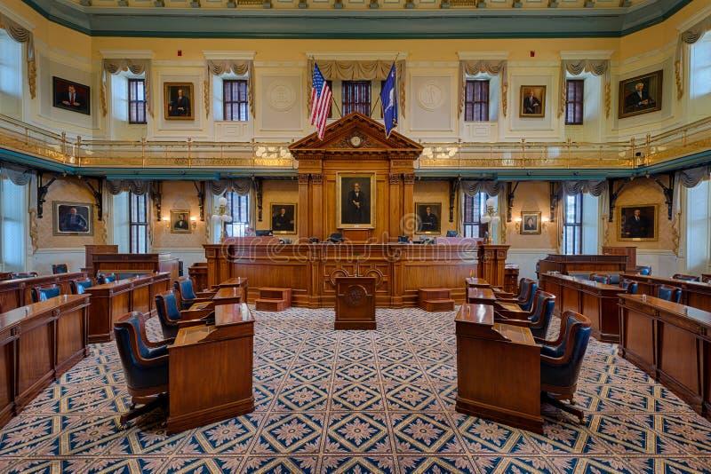 Zuiden Carolina Senate Chamber royalty-vrije stock afbeelding