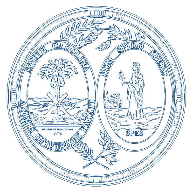 Zuiden Carolina State Seal vector illustratie