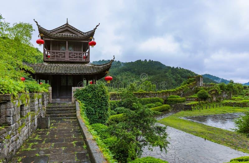 Zuiden Grote Muur van China dichtbij oude stad Fenghuang - Hunan CH royalty-vrije stock foto