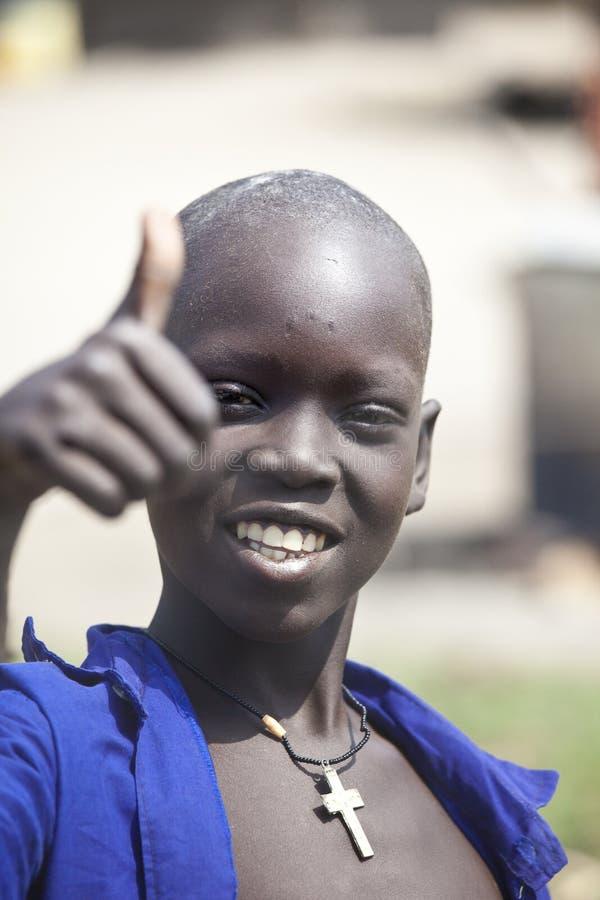 Zuiden Soedanese Christelijke jongen stock foto