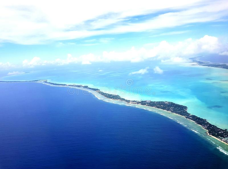 Zuiden Tarawa, Kiribati stock afbeelding
