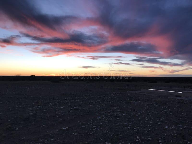 Zuiden Texas Sunset royalty-vrije stock foto's