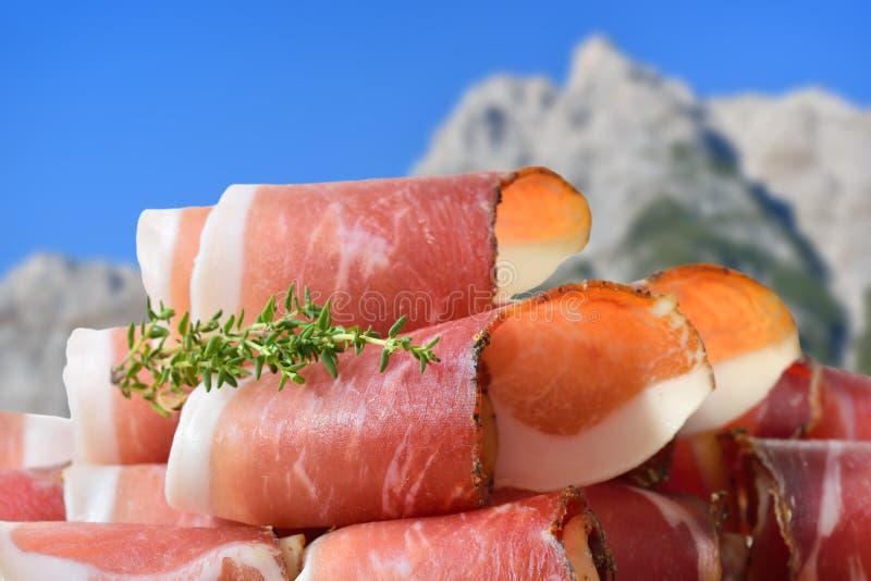 Zuiden Tirools bacon royalty-vrije stock foto