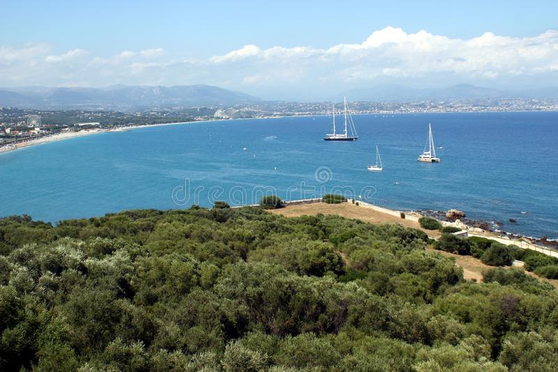 Zuiden van de kust van Frankrijk stock foto