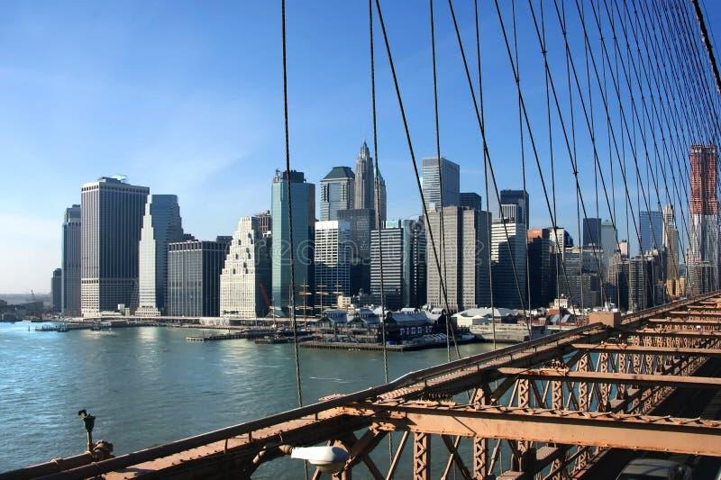 Zuiden van Manhattan stock afbeelding