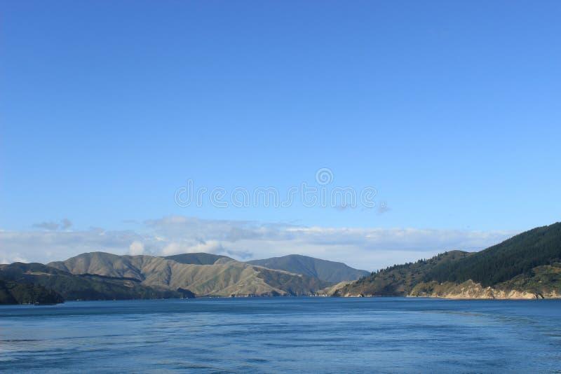 Zuideneiland Nieuw Zeeland, kokstraat, overzees royalty-vrije stock foto