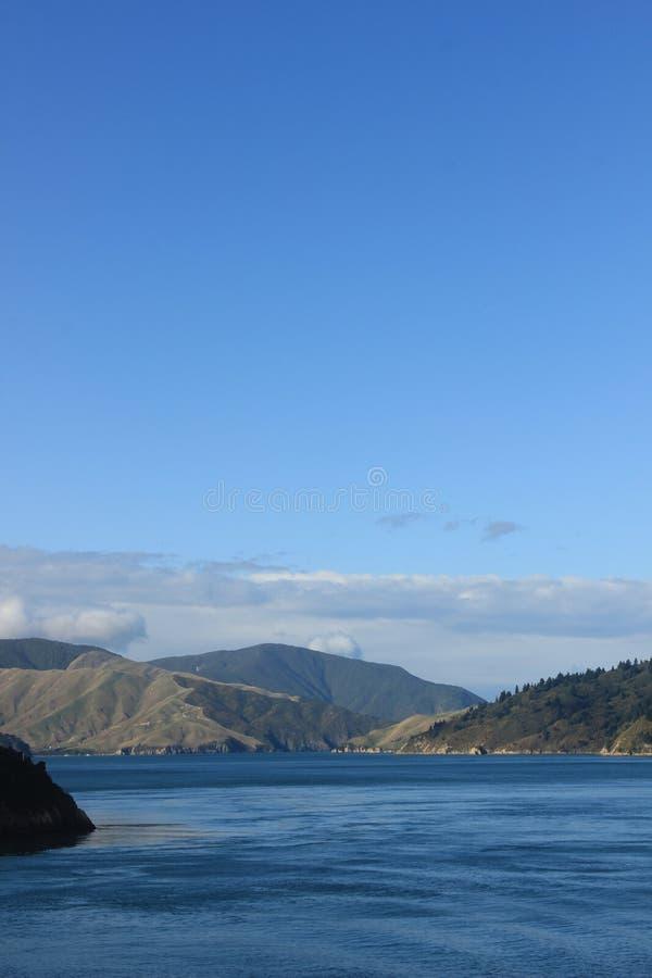 Zuideneiland Nieuw Zeeland, kokstraat, overzees royalty-vrije stock afbeeldingen