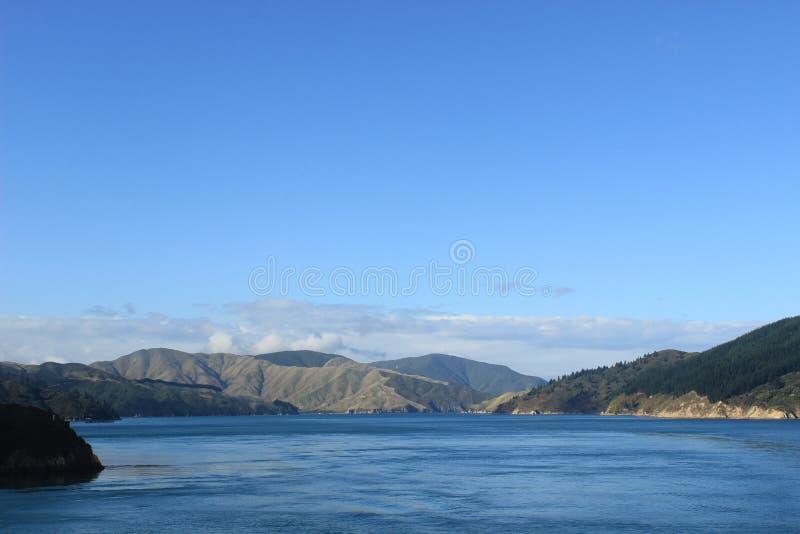 Zuideneilanden Nieuw Zeeland, kokstraat royalty-vrije stock afbeelding