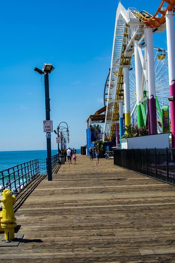 Zuidenkant van Santa Monica Pier royalty-vrije stock afbeeldingen