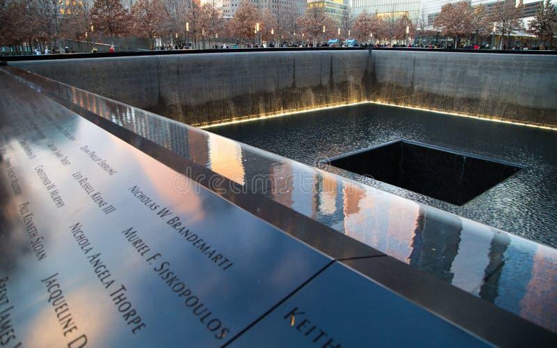 Zuidenpool van het World Trade Centergedenkteken stock fotografie