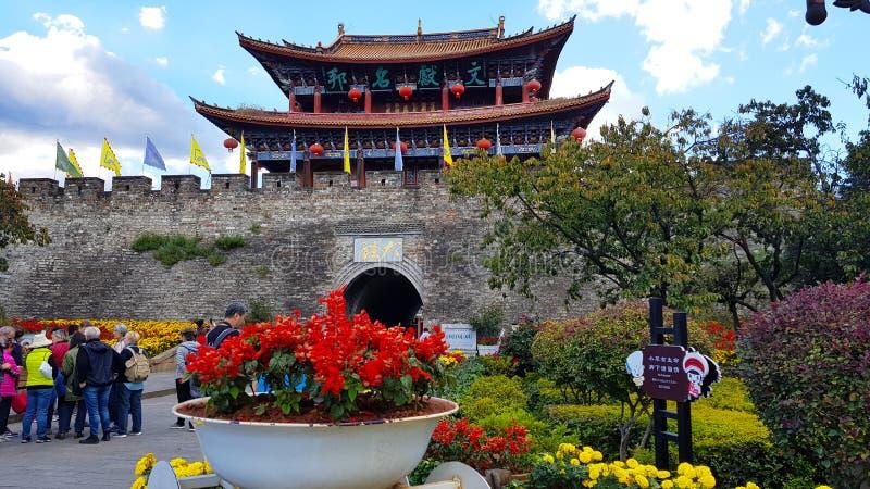Zuidenpoort van de oude stad van Dali, Yunnan, China royalty-vrije stock foto
