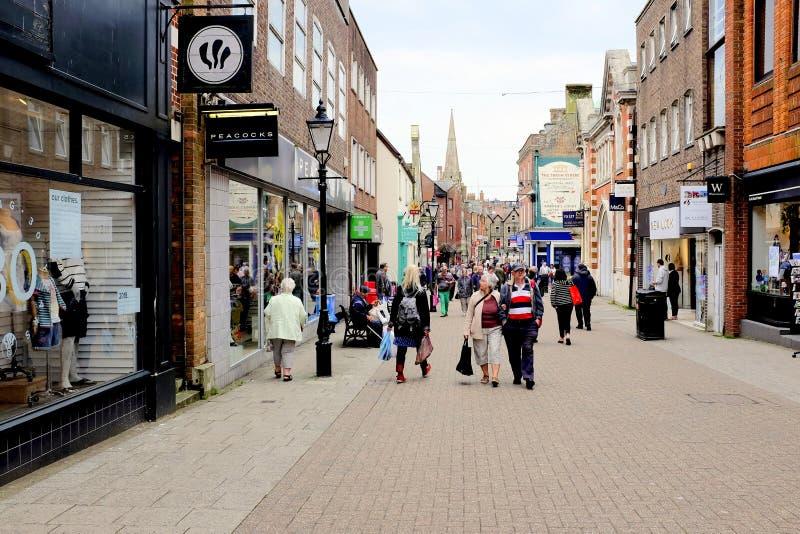 Zuidenstraat, Dorchester, Dorset, het UK royalty-vrije stock afbeelding