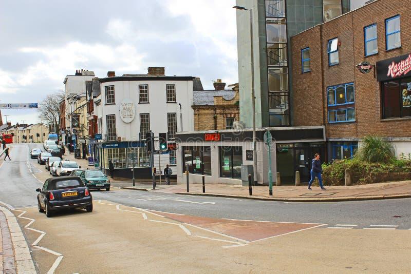 Zuidenstraat, Exeter, die zuiden kijken royalty-vrije stock foto