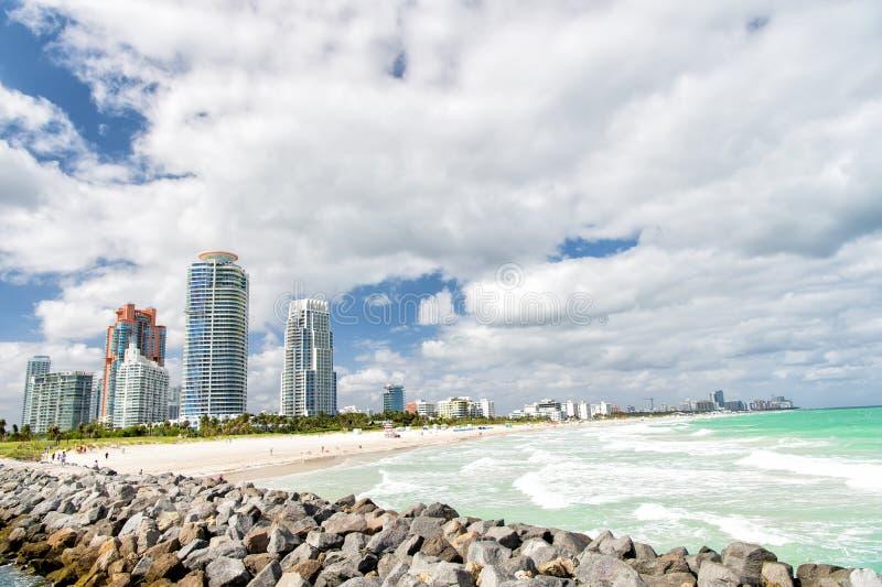 Zuidenstrand, het Strand van Miami florida stock foto