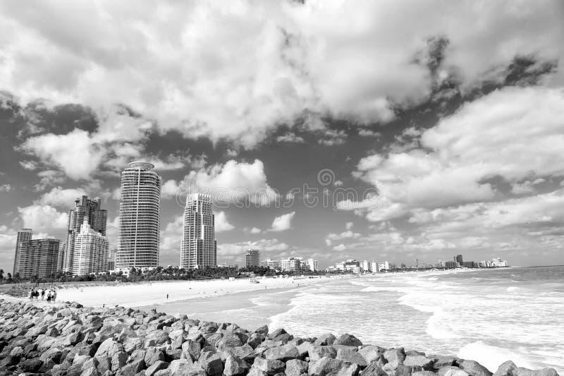 Zuidenstrand, het Strand van Miami florida stock afbeeldingen